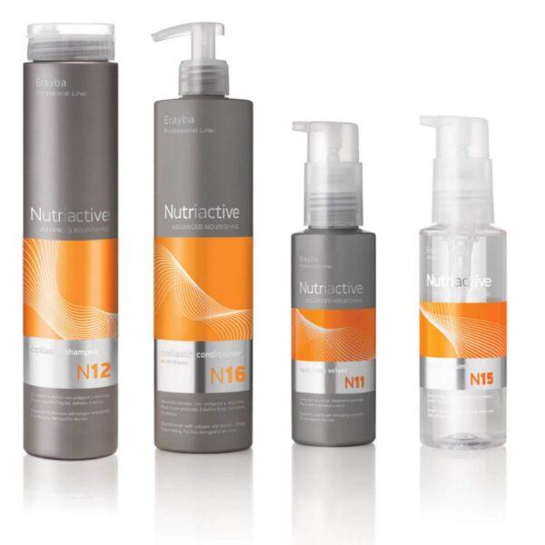 hårpleje, hårprodukt, tørt hår, nutriactive, shampoo, conditioner, serum, hårkur, Erayba danmark