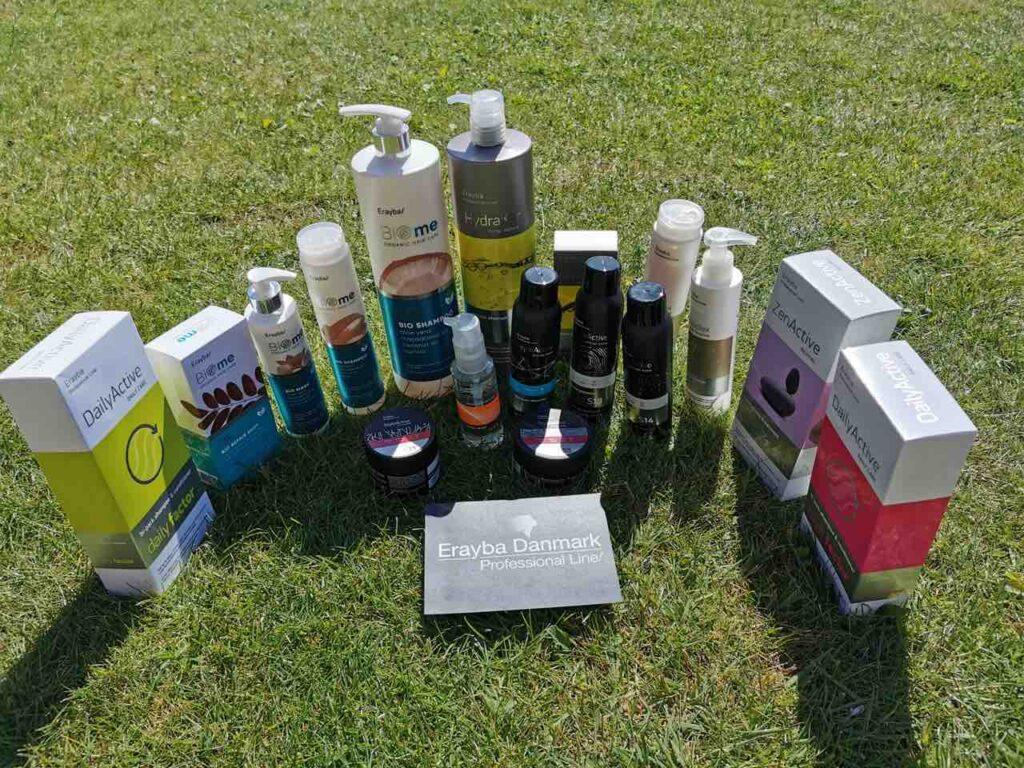 Vind et års forbrug af hårpleje og hårprodukter fra Erayba Danmark.
